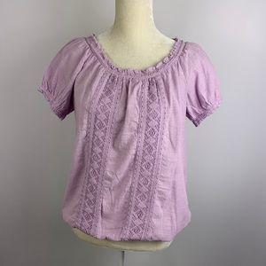 Vintage America Lilac Boho Small Blouse